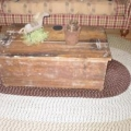 old chest coffee table, dry sink, bucket bench Preview