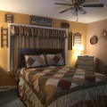 County Cozy Bedroom in Autumn Image 1