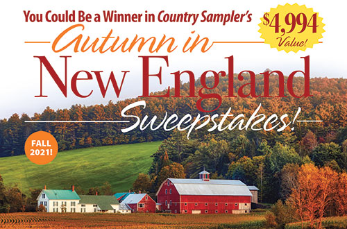 <em>Country Sampler's</em> Autumn in New England Sweepstakes