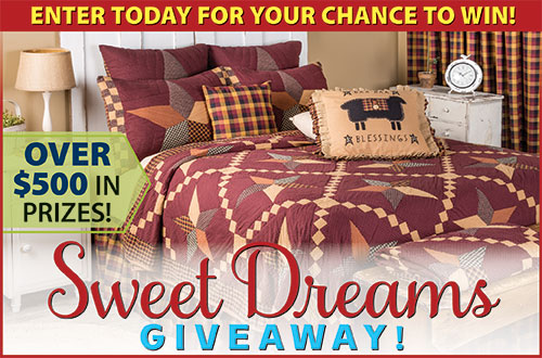 Country Sampler's Sweet Dreams Giveaway!