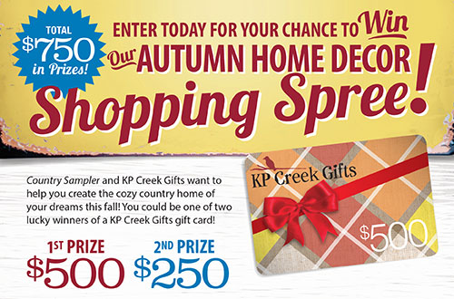Country Sampler's Autumn Home Decor Shopping Spree Giveaway!