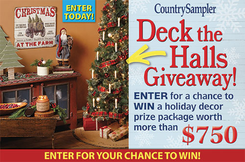 Country Sampler's Deck the Halls Giveaway!