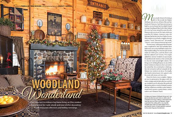 Christmas Home Decor 2019.Country Sampler November 2019