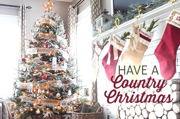 Country Sampler Christmas Decorating 2018